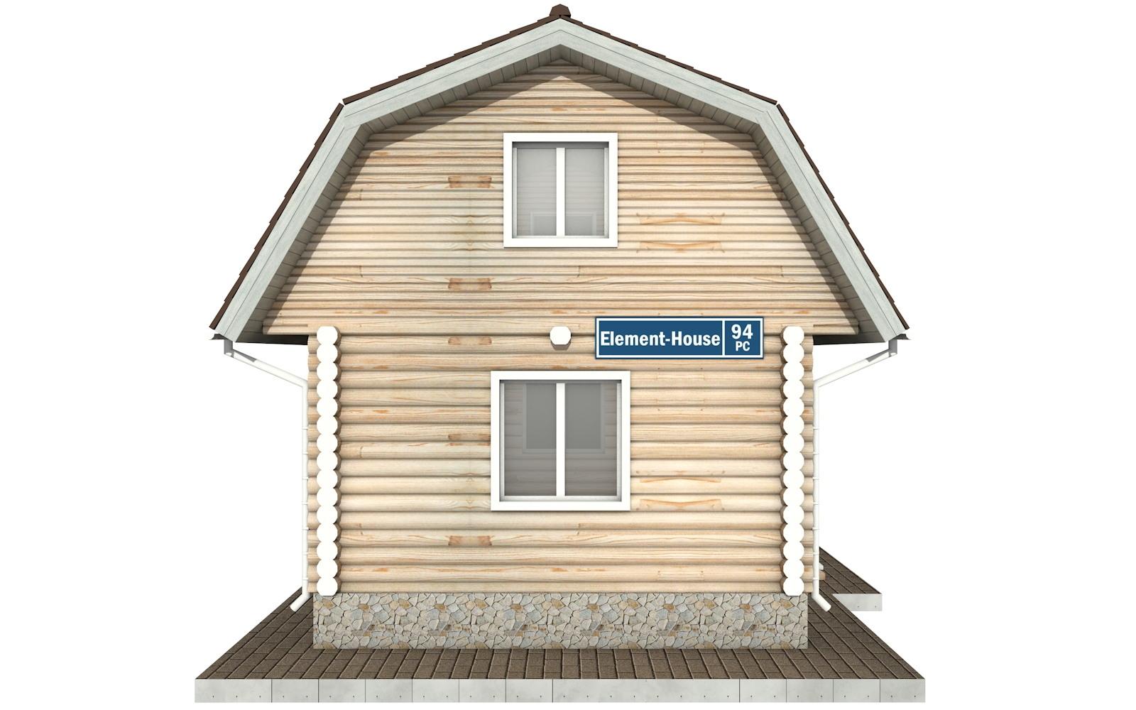 Фото #7: Красивый деревянный дом РС-94 из бревна