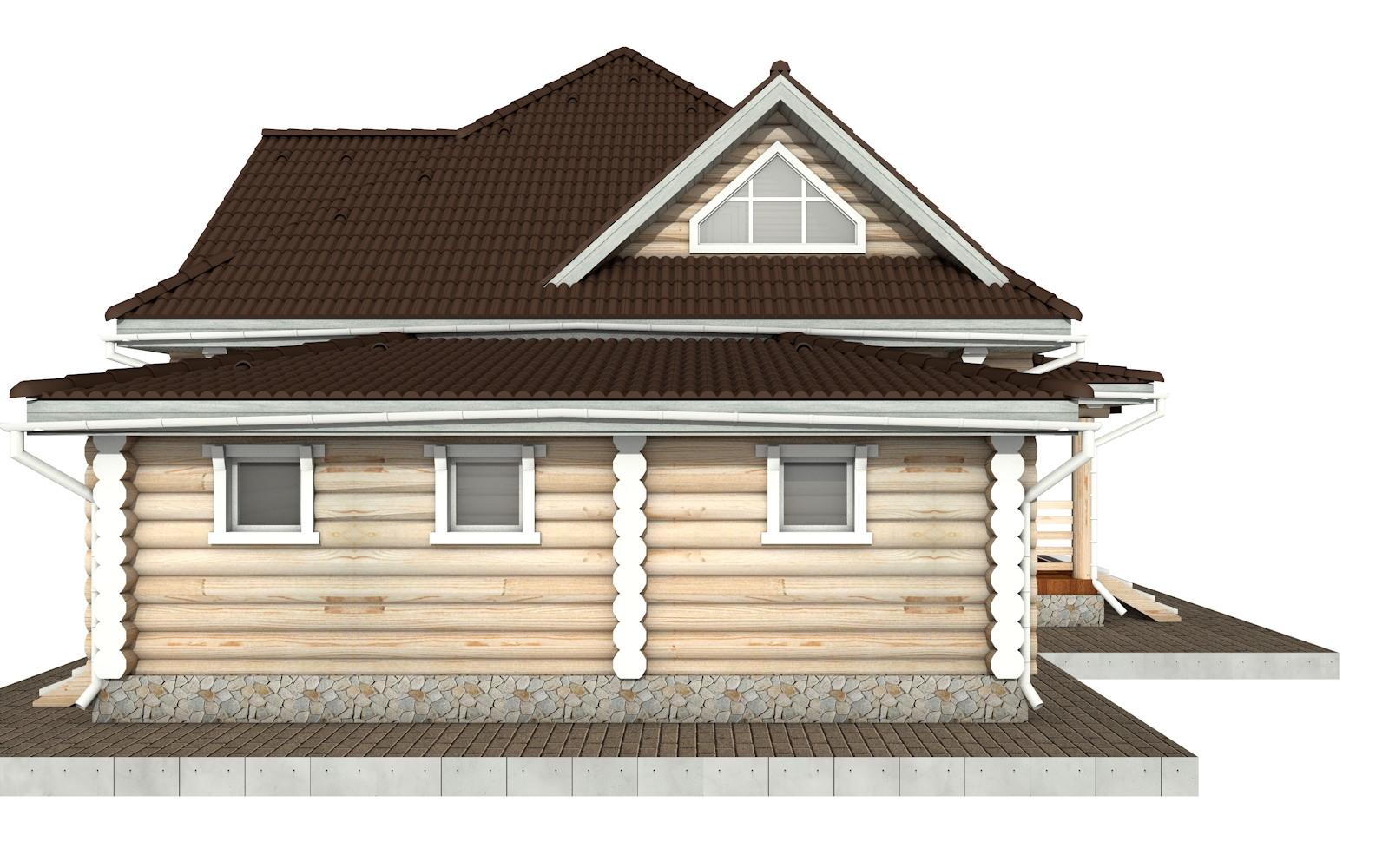 Фото #7: Красивый деревянный дом РС-97 из бревна