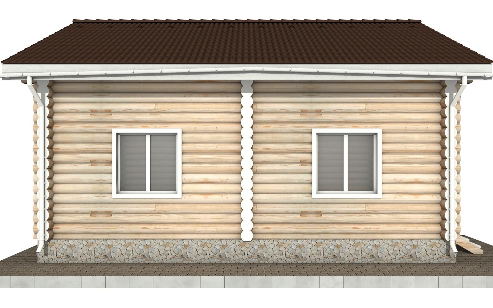 Фото #7: Красивый деревянный дом РС-98 из бревна