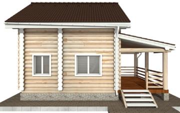 Фото #8: Красивый деревянный дом РС-99 из бревна