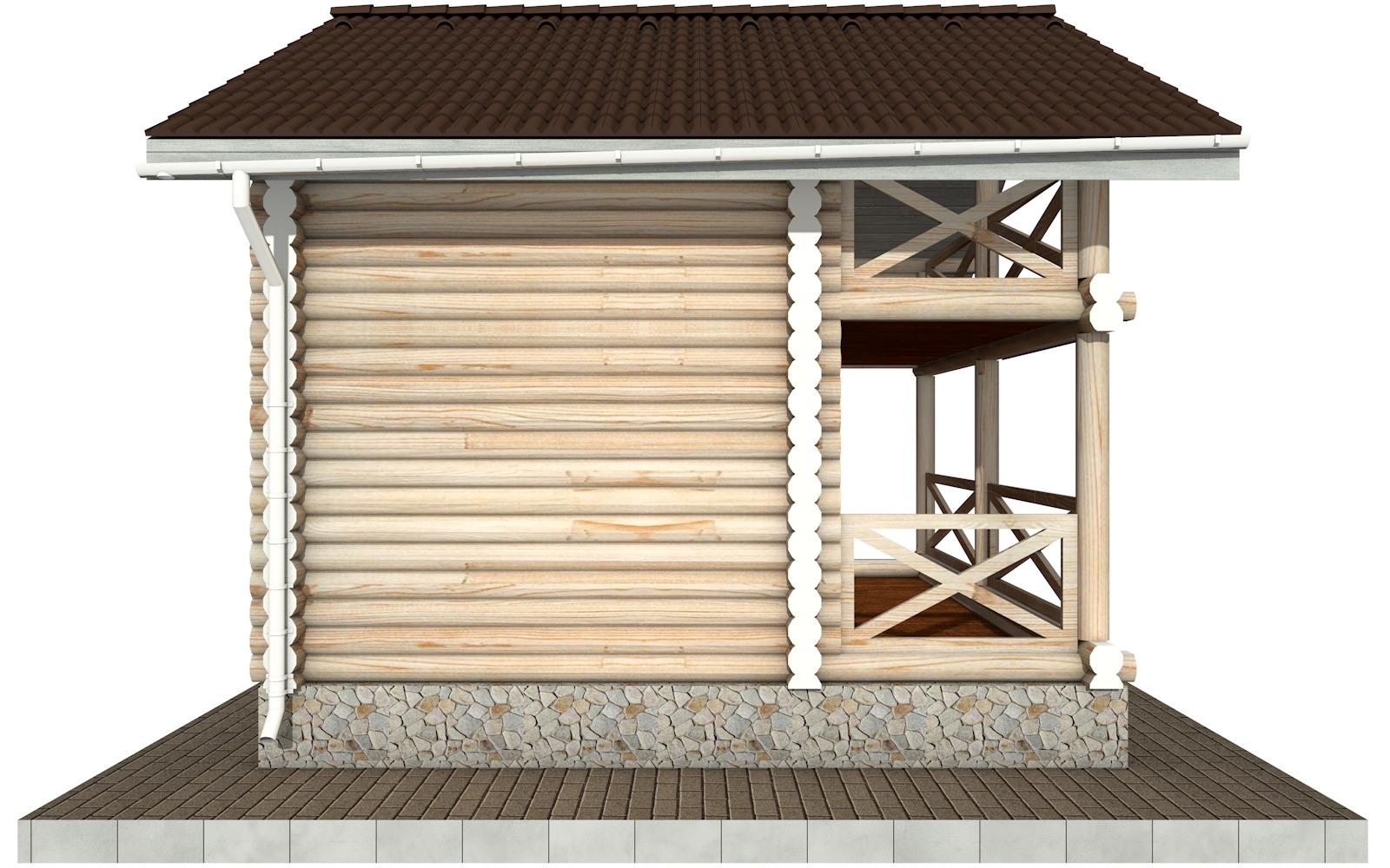 Фото #7: Красивый деревянный дом РС-100 из бревна