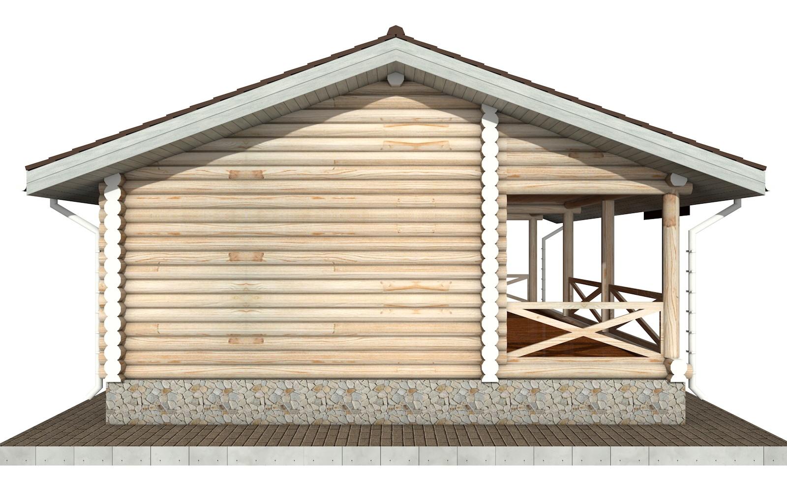 Фото #6: Красивый деревянный дом РС-101 из бревна