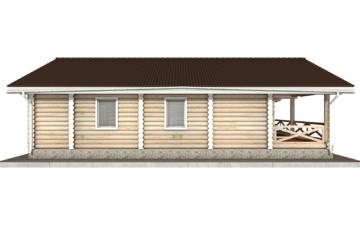 Фото #8: Красивый деревянный дом РС-102 из бревна