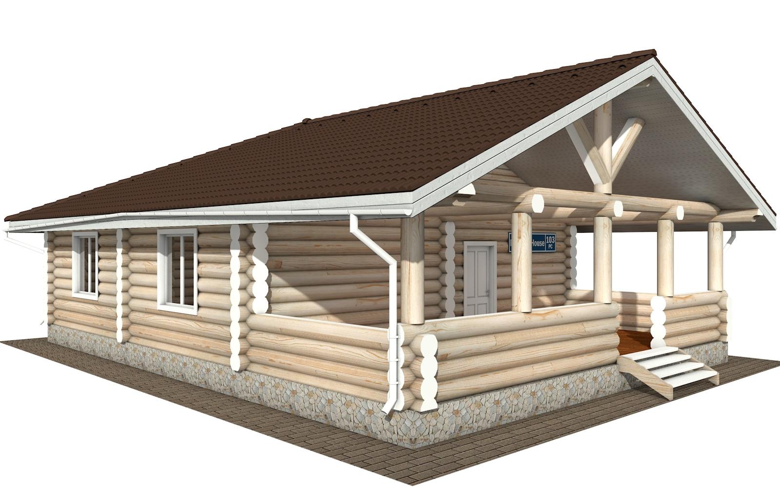 Фото #2: Красивый деревянный дом РС-103 из бревна
