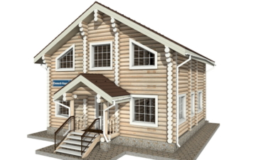 Фото #5: Красивый деревянный дом РС-8 из бревна