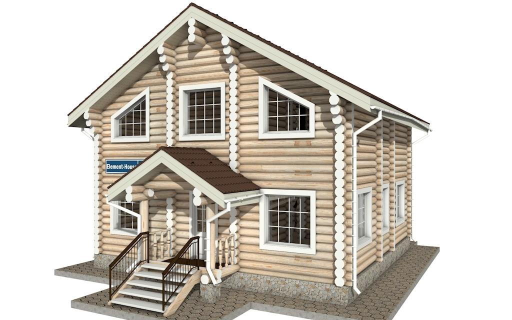 Фото #4: Красивый деревянный дом РС-8 из бревна