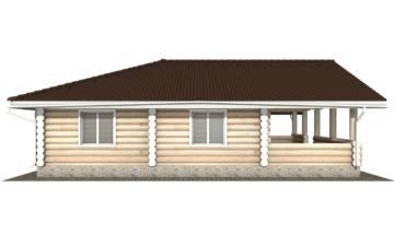 Фото #8: Красивый деревянный дом РС-103 из бревна