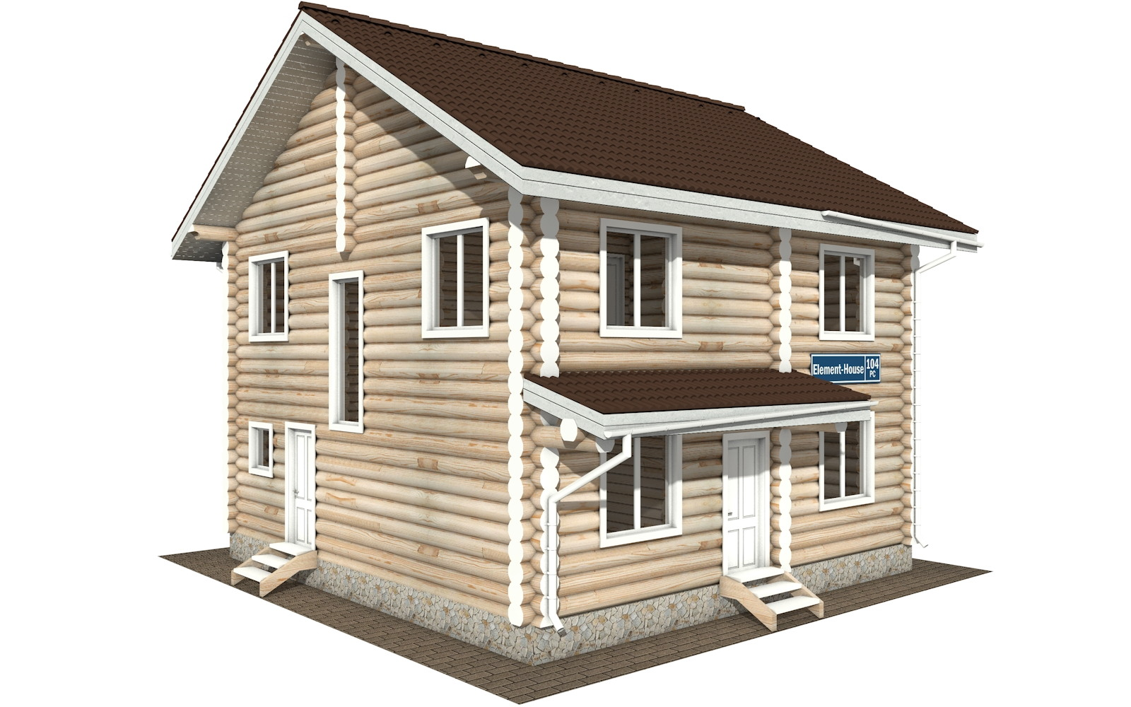 Фото #4: Красивый деревянный дом РС-104 из бревна