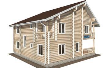 Фото #5: Красивый деревянный дом РС-105 из бревна