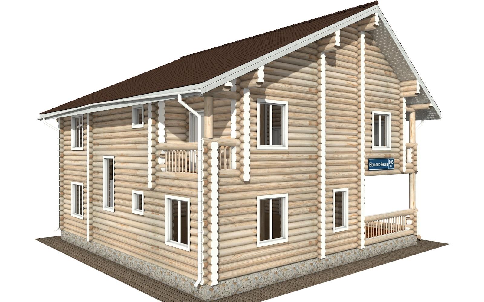 Фото #4: Красивый деревянный дом РС-105 из бревна