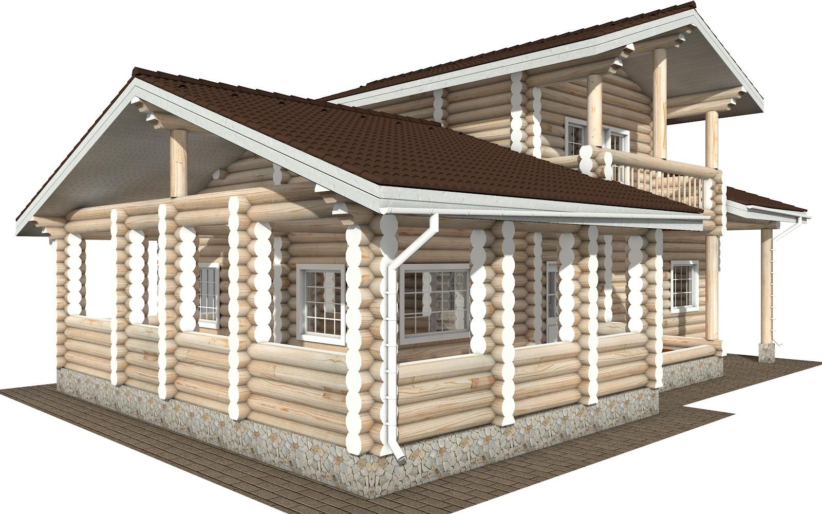 Фото #4: Красивый деревянный дом РС-106 из бревна