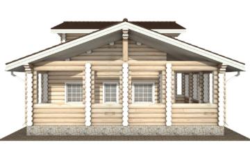 Фото #8: Красивый деревянный дом РС-106 из бревна