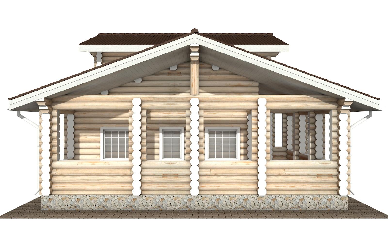 Фото #7: Красивый деревянный дом РС-106 из бревна