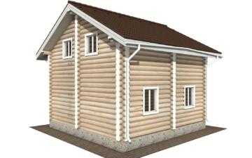 Фото #5: Красивый деревянный дом РС-107 из бревна