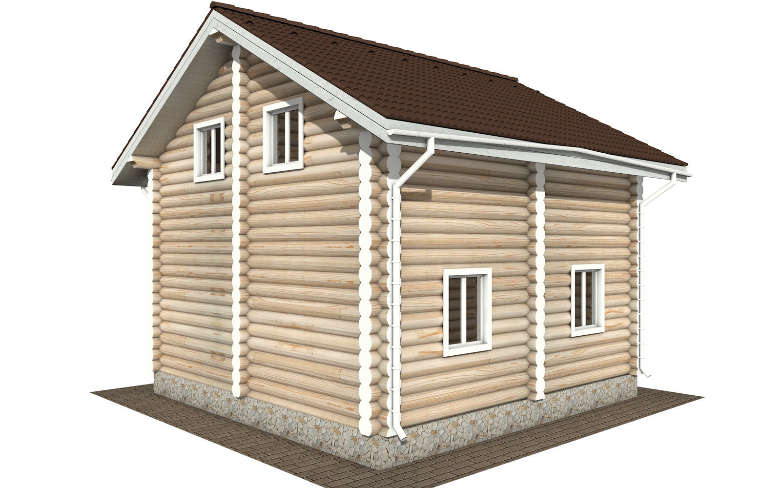 Фото #4: Красивый деревянный дом РС-107 из бревна