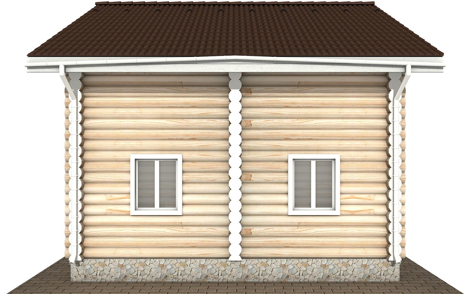 Фото #7: Красивый деревянный дом РС-107 из бревна