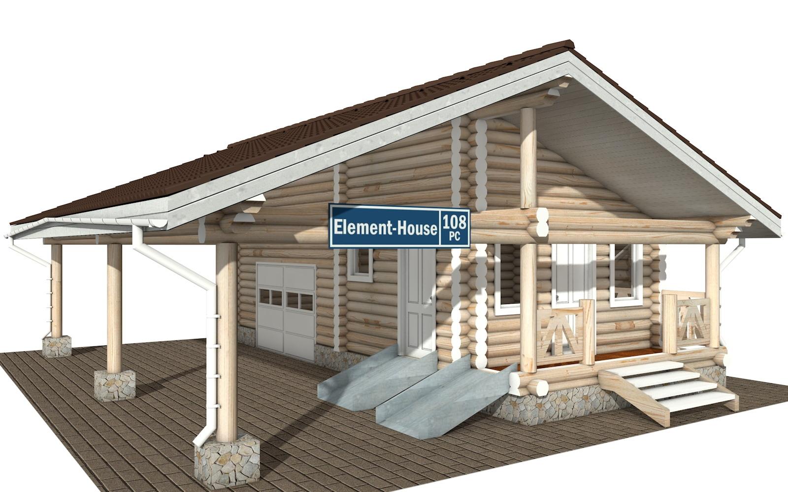 Фото #3: Красивый деревянный дом РС-108 из бревна