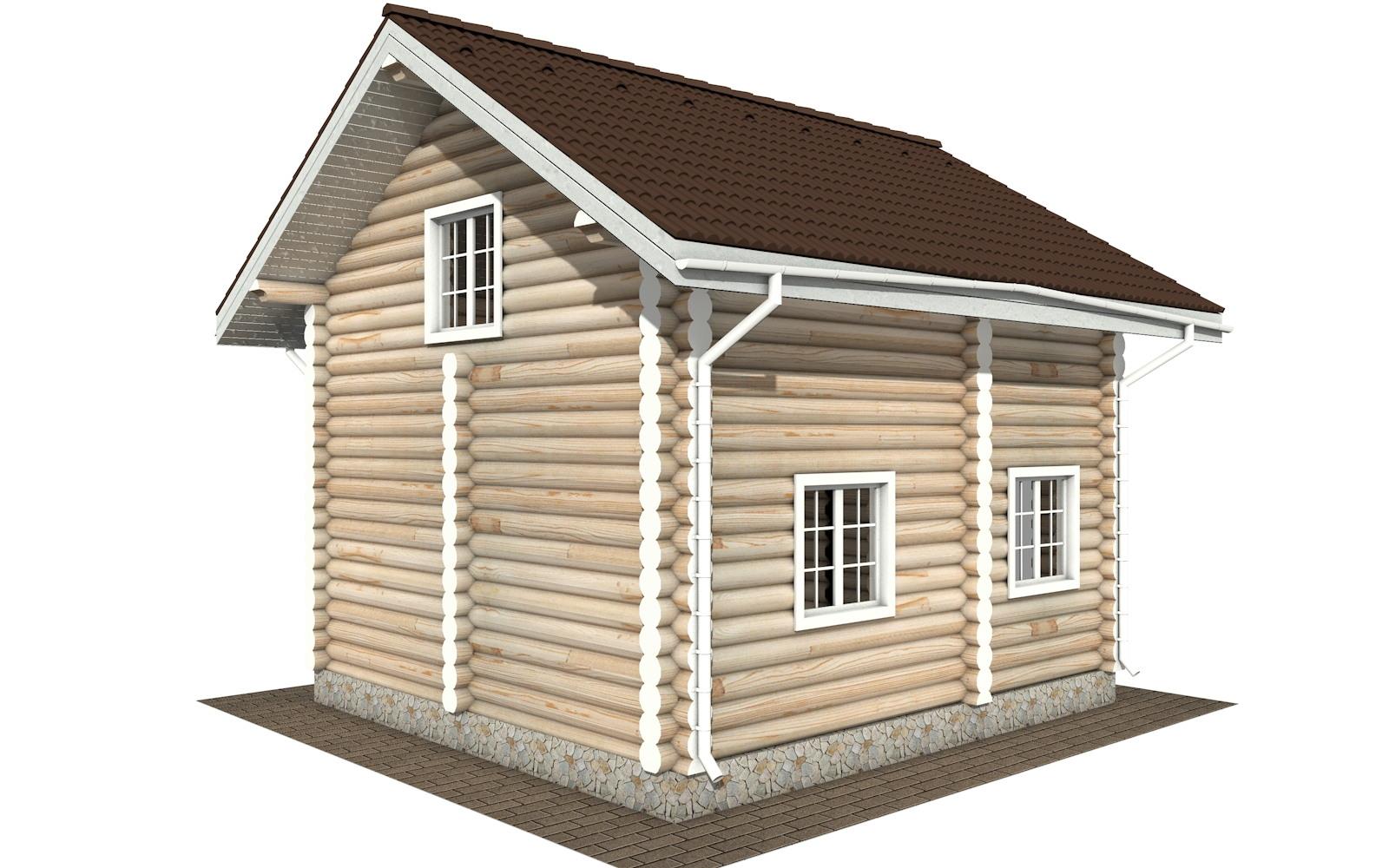 Фото #4: Красивый деревянный дом РС-109 из бревна