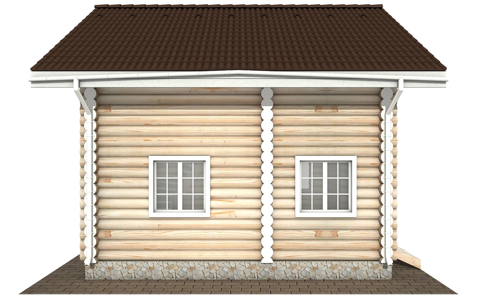 Фото #7: Красивый деревянный дом РС-109 из бревна