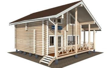 Фото #2: Красивый деревянный дом РС-110 из бревна
