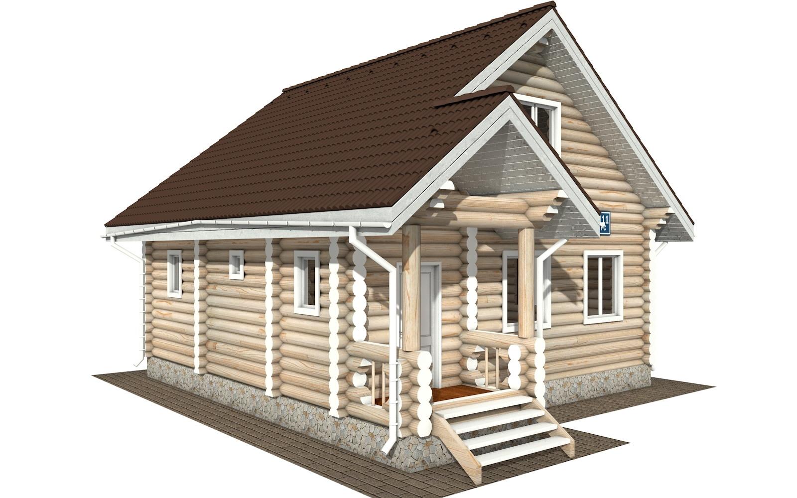 Фото #4: Красивый деревянный дом РС-111 из бревна