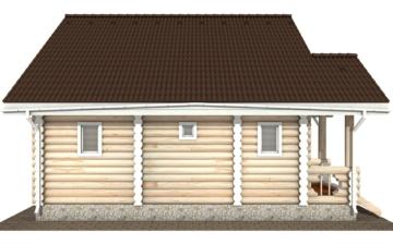Фото #8: Красивый деревянный дом РС-111 из бревна