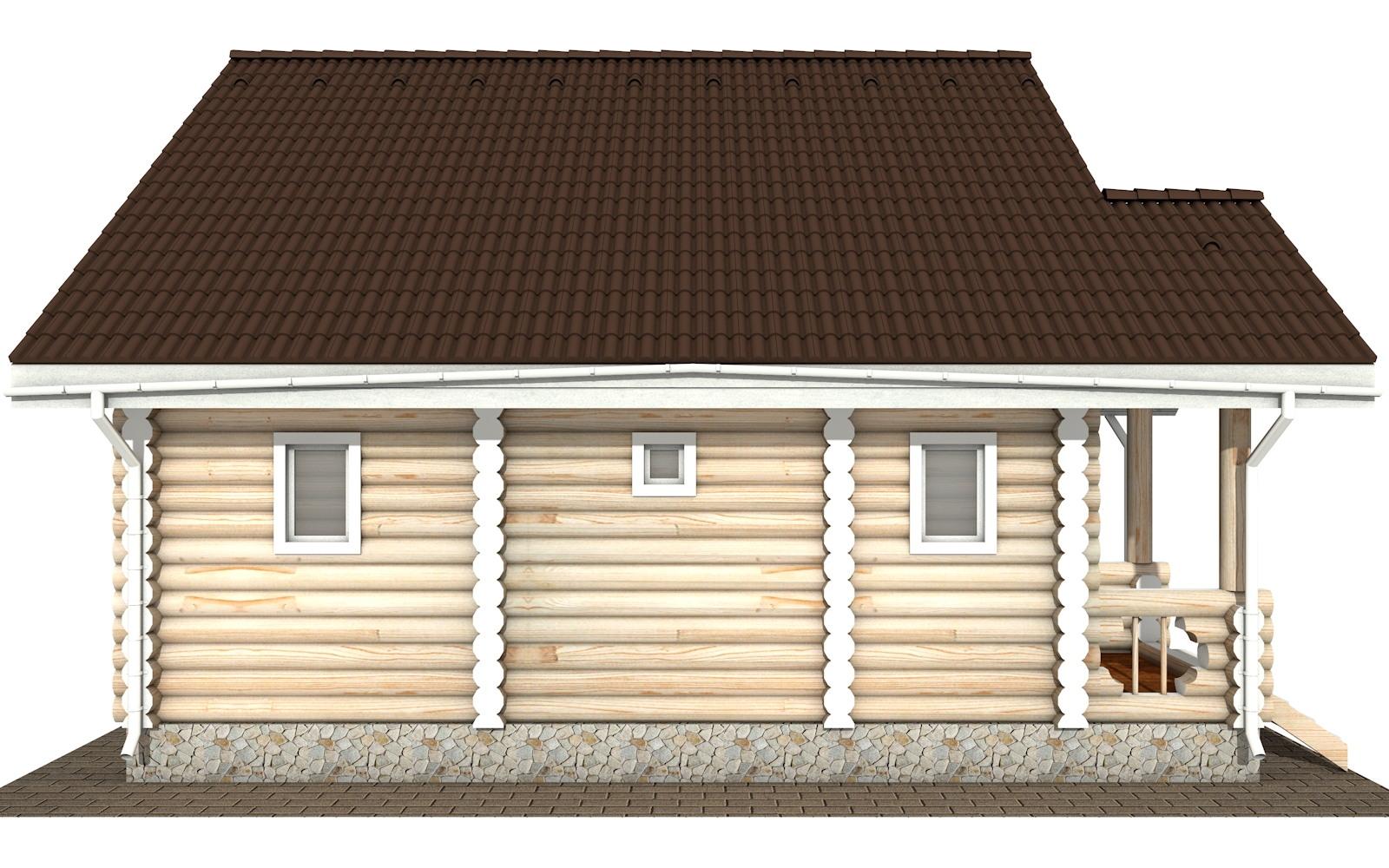 Фото #7: Красивый деревянный дом РС-111 из бревна