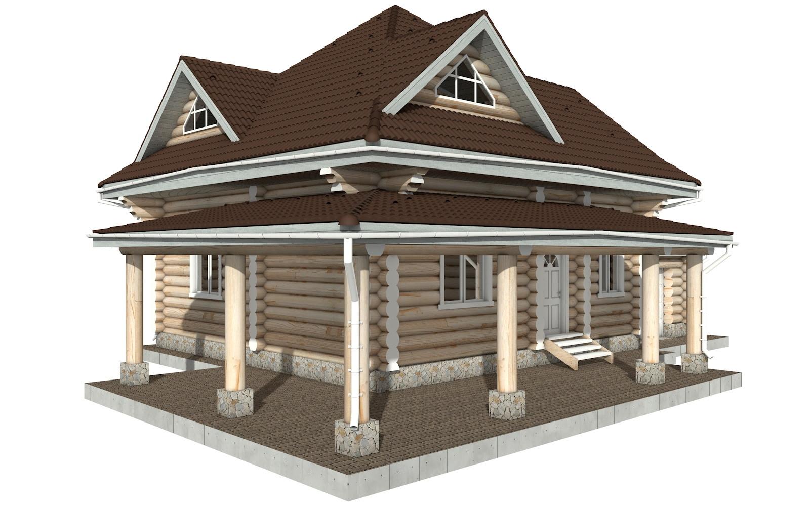 Фото #4: Красивый деревянный дом РС-112 из бревна