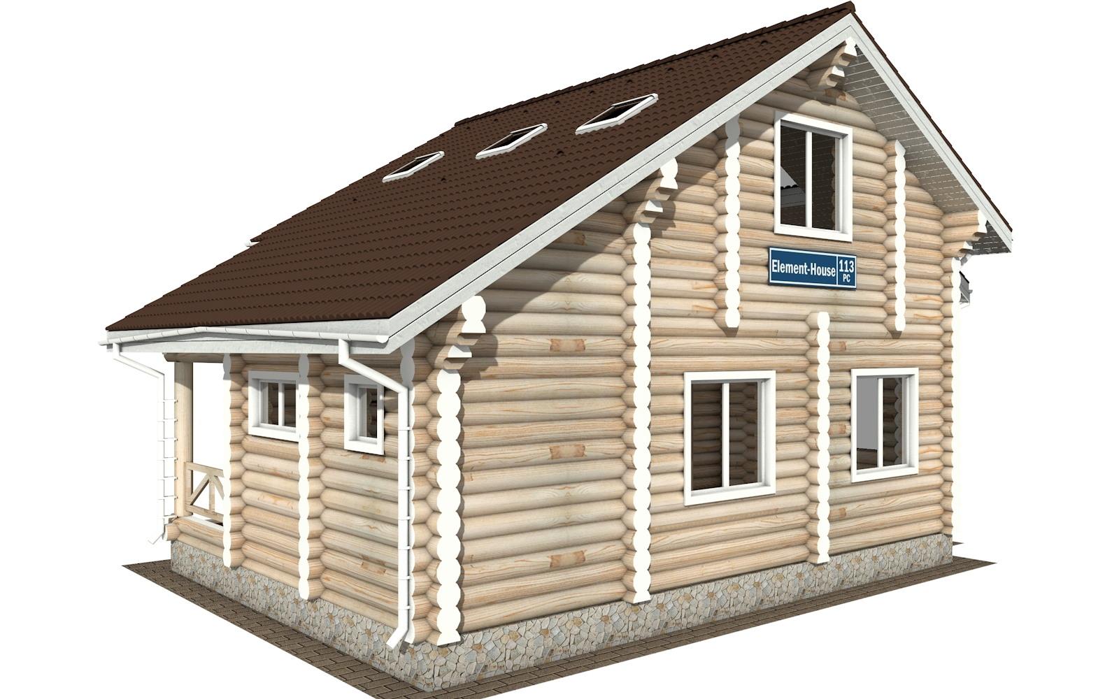 Фото #4: Красивый деревянный дом РС-113 из бревна