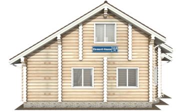 Фото #8: Красивый деревянный дом РС-113 из бревна