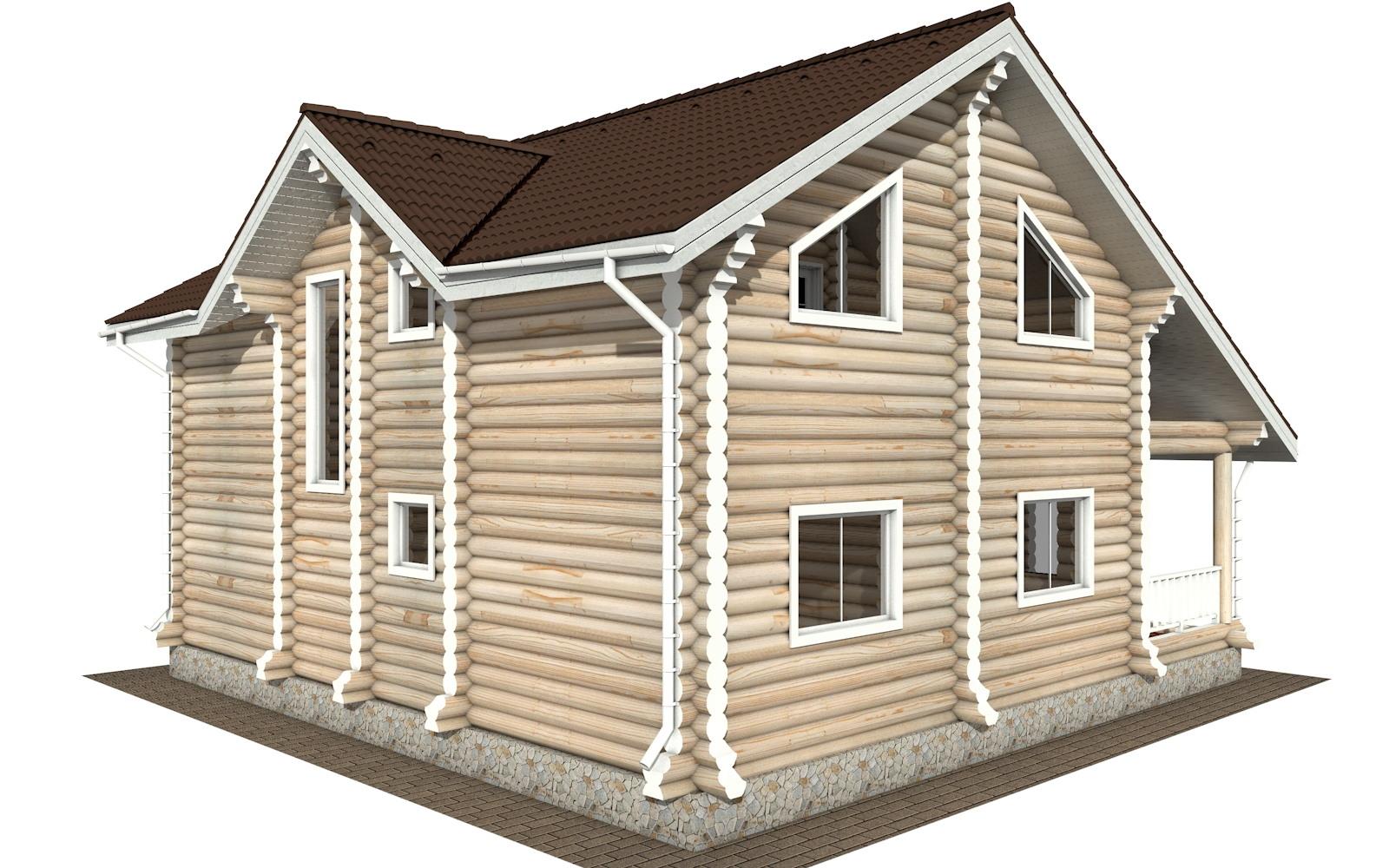 Фото #4: Красивый деревянный дом РС-114 из бревна