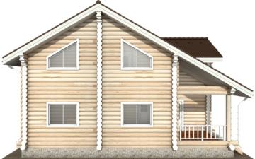 Фото #8: Красивый деревянный дом РС-114 из бревна