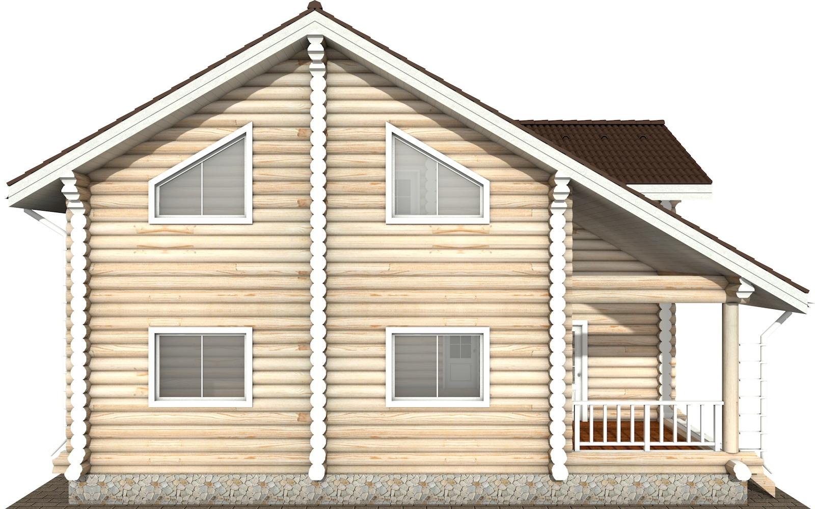 Фото #7: Красивый деревянный дом РС-114 из бревна