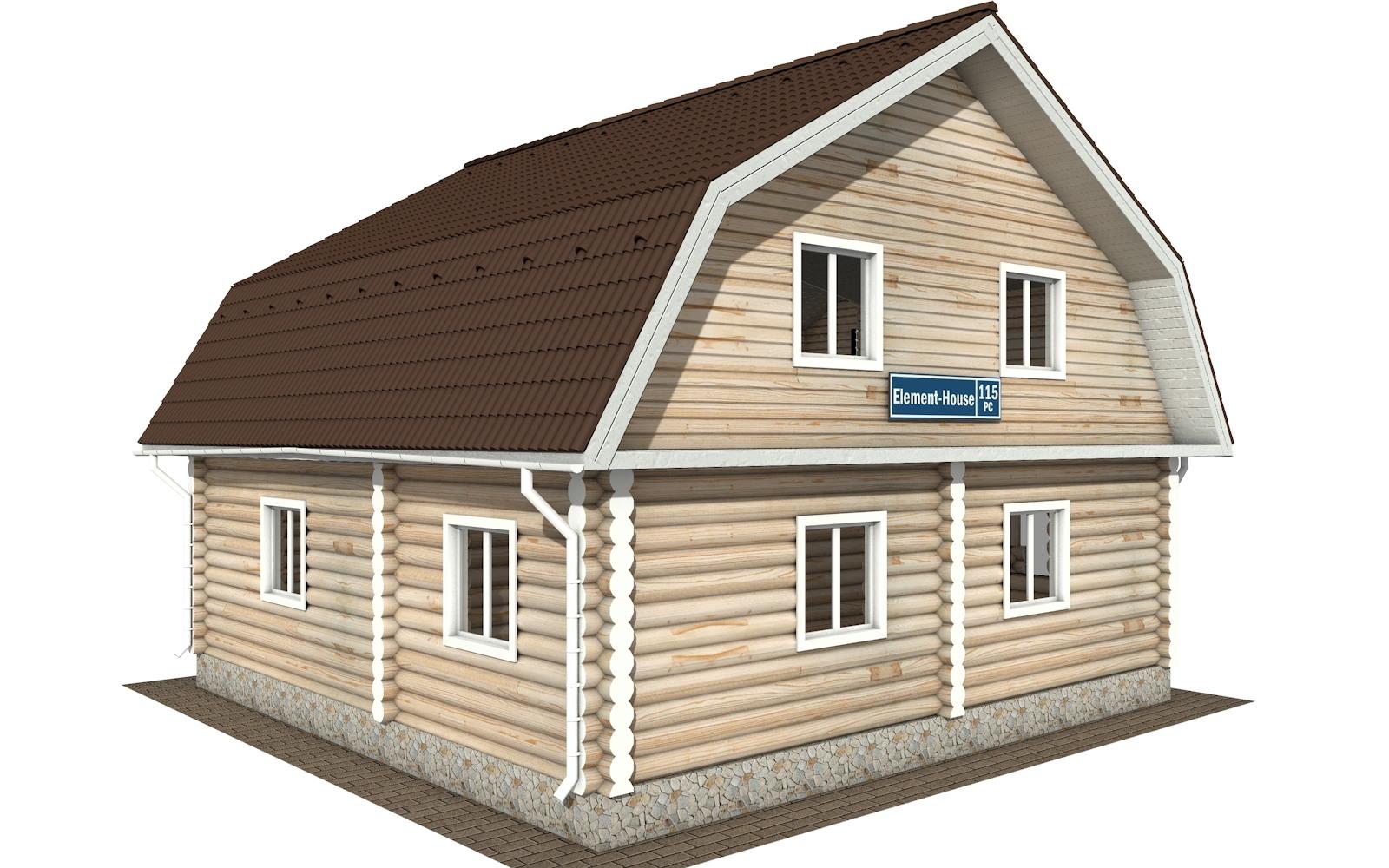 Фото #2: Красивый деревянный дом РС-115 из бревна