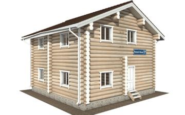 Фото #2: Красивый деревянный дом РС-116 из бревна