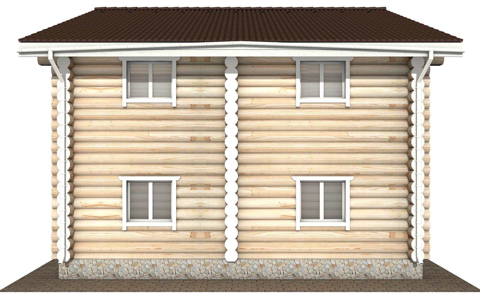 Фото #7: Красивый деревянный дом РС-116 из бревна
