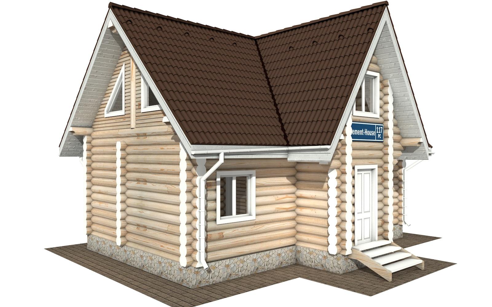 Фото #4: Красивый деревянный дом РС-117 из бревна