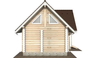 Фото #8: Красивый деревянный дом РС-117 из бревна