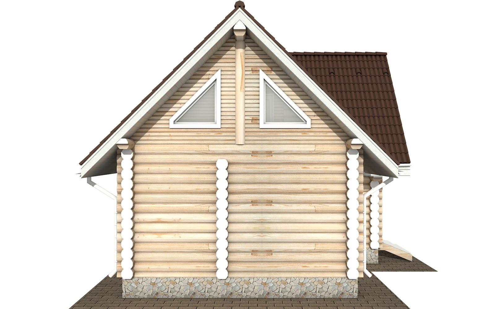 Фото #7: Красивый деревянный дом РС-117 из бревна