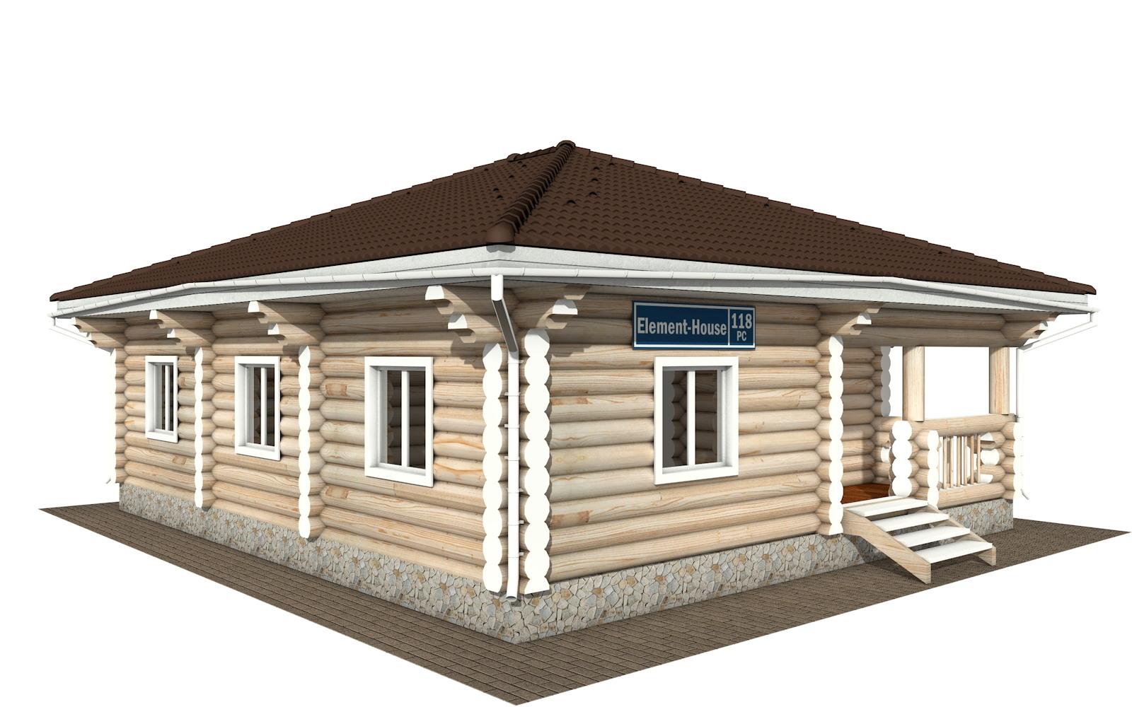 РС-118 - деревянный дома из бревна (из сруба)