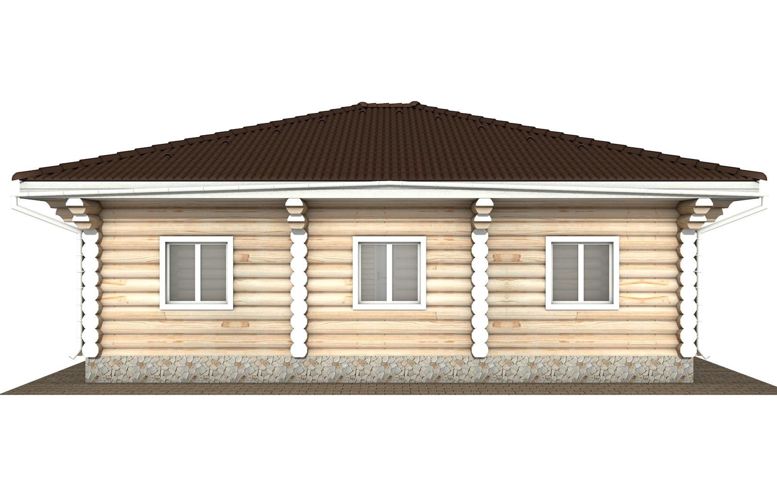 Фото #6: Красивый деревянный дом РС-118 из бревна