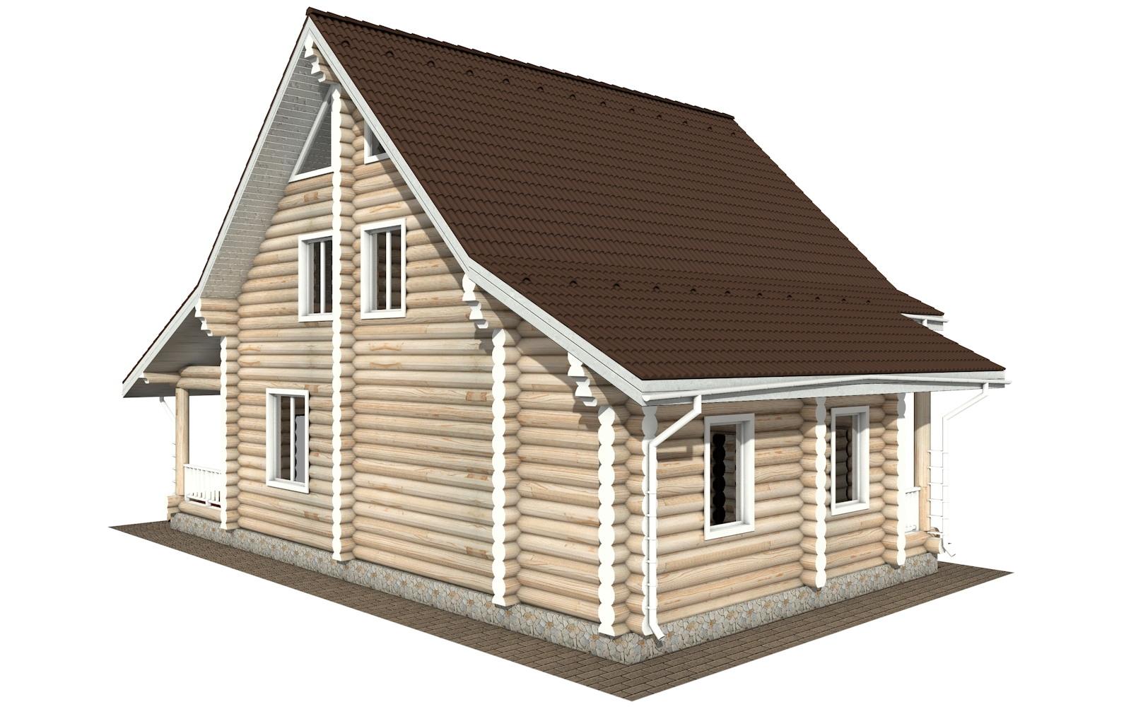 Фото #4: Красивый деревянный дом РС-119 из бревна