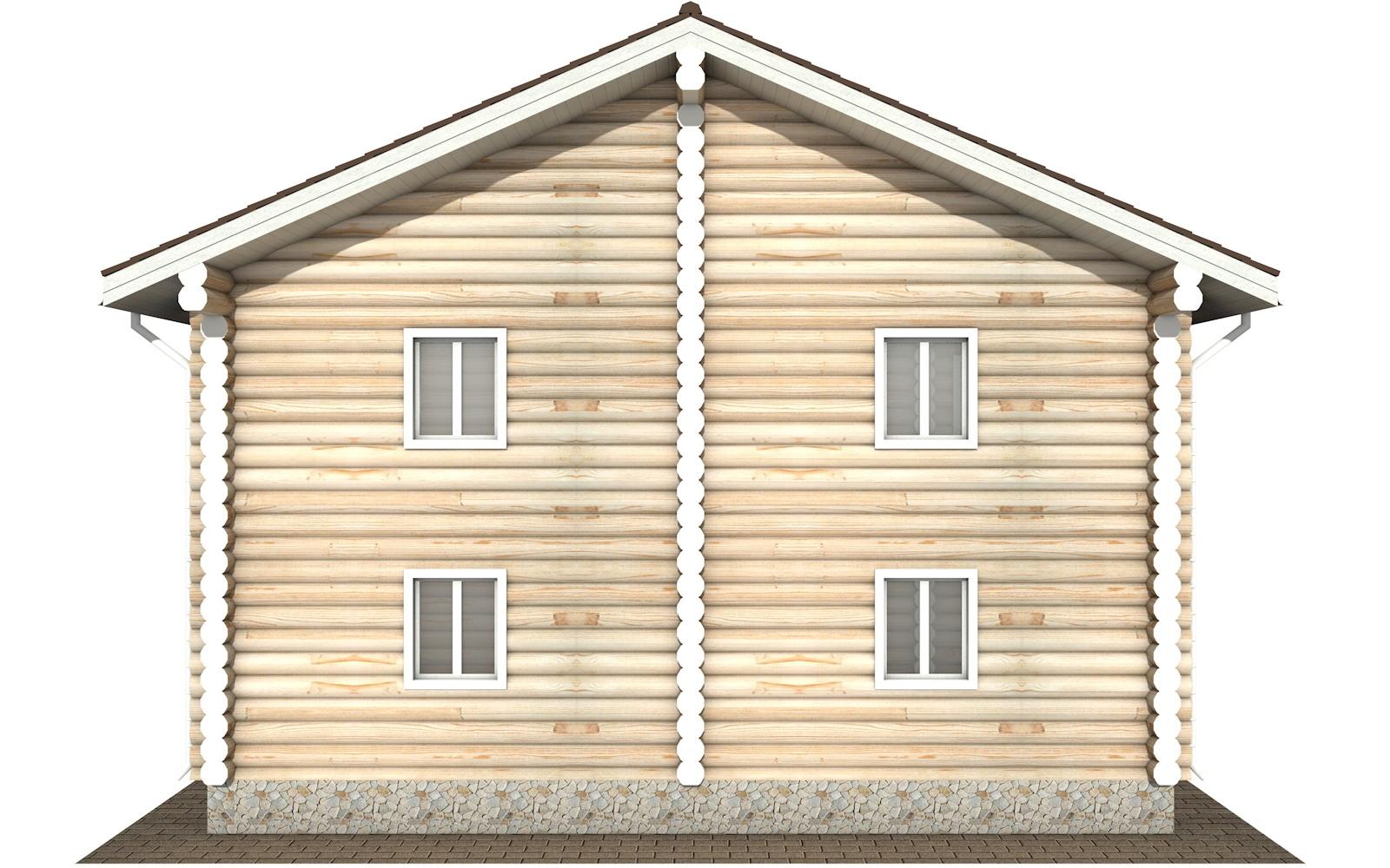 Фото #7: Красивый деревянный дом РС-120 из бревна