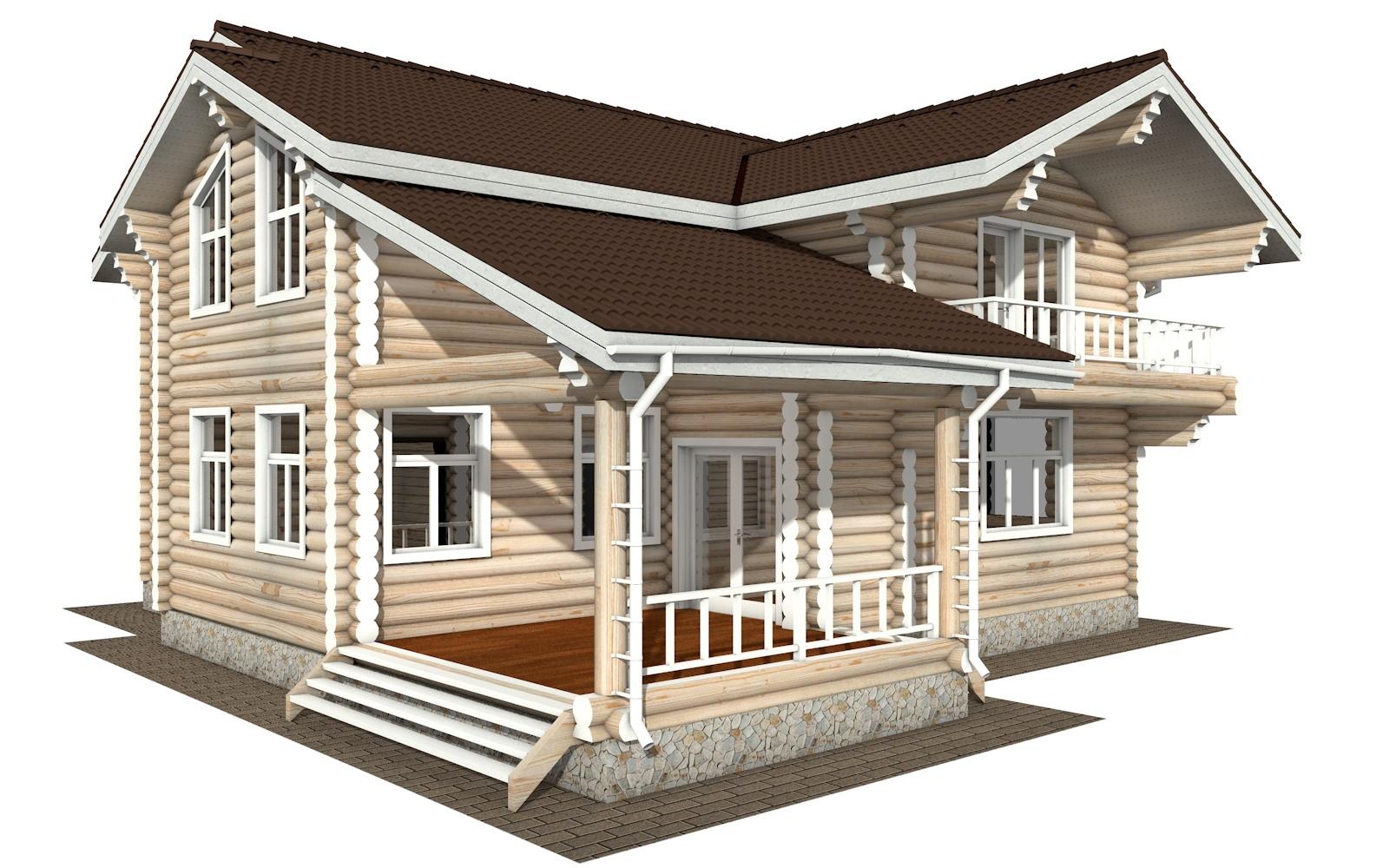 Фото #2: Красивый деревянный дом РС-121 из бревна