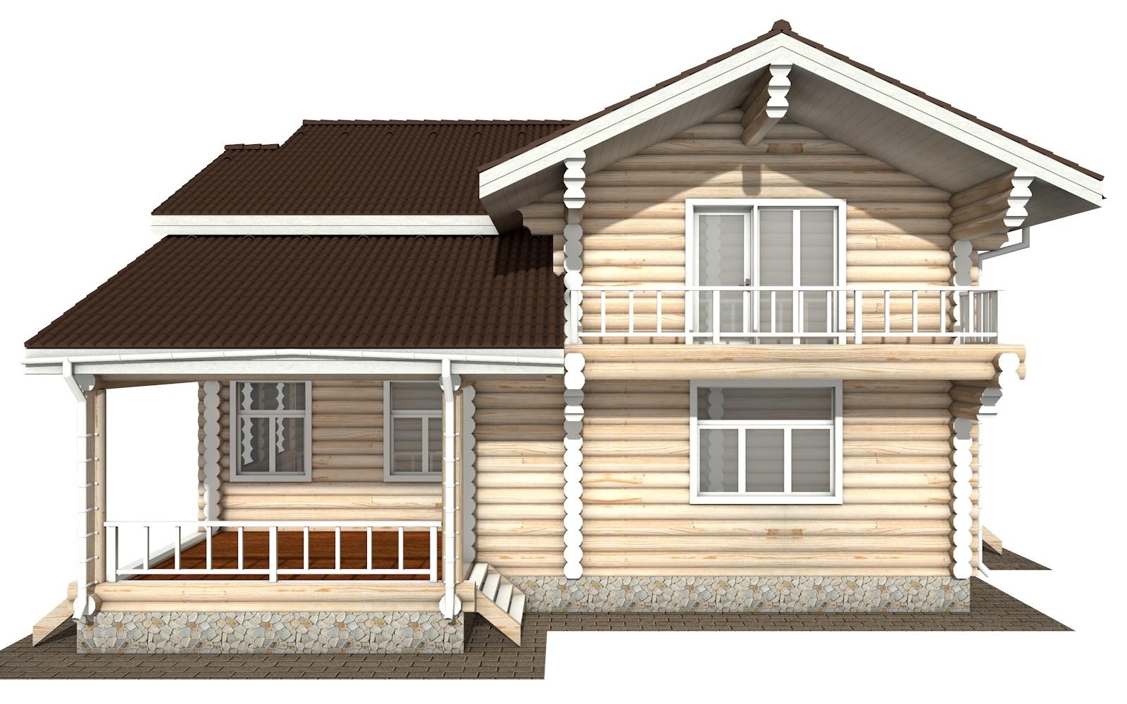 Фото #7: Красивый деревянный дом РС-121 из бревна