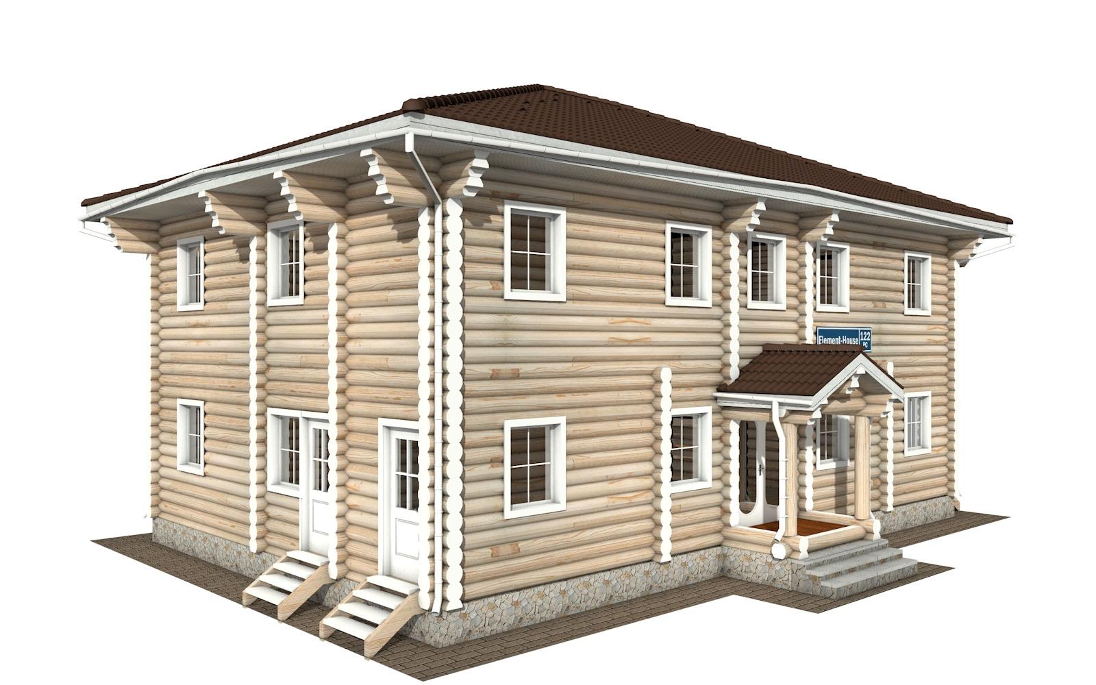Фото #2: Красивый деревянный дом РС-122 из бревна
