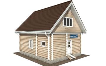 Фото #2: Красивый деревянный дом РС-123 из бревна