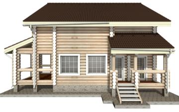 Фото #8: Красивый деревянный дом РС-9 из бревна