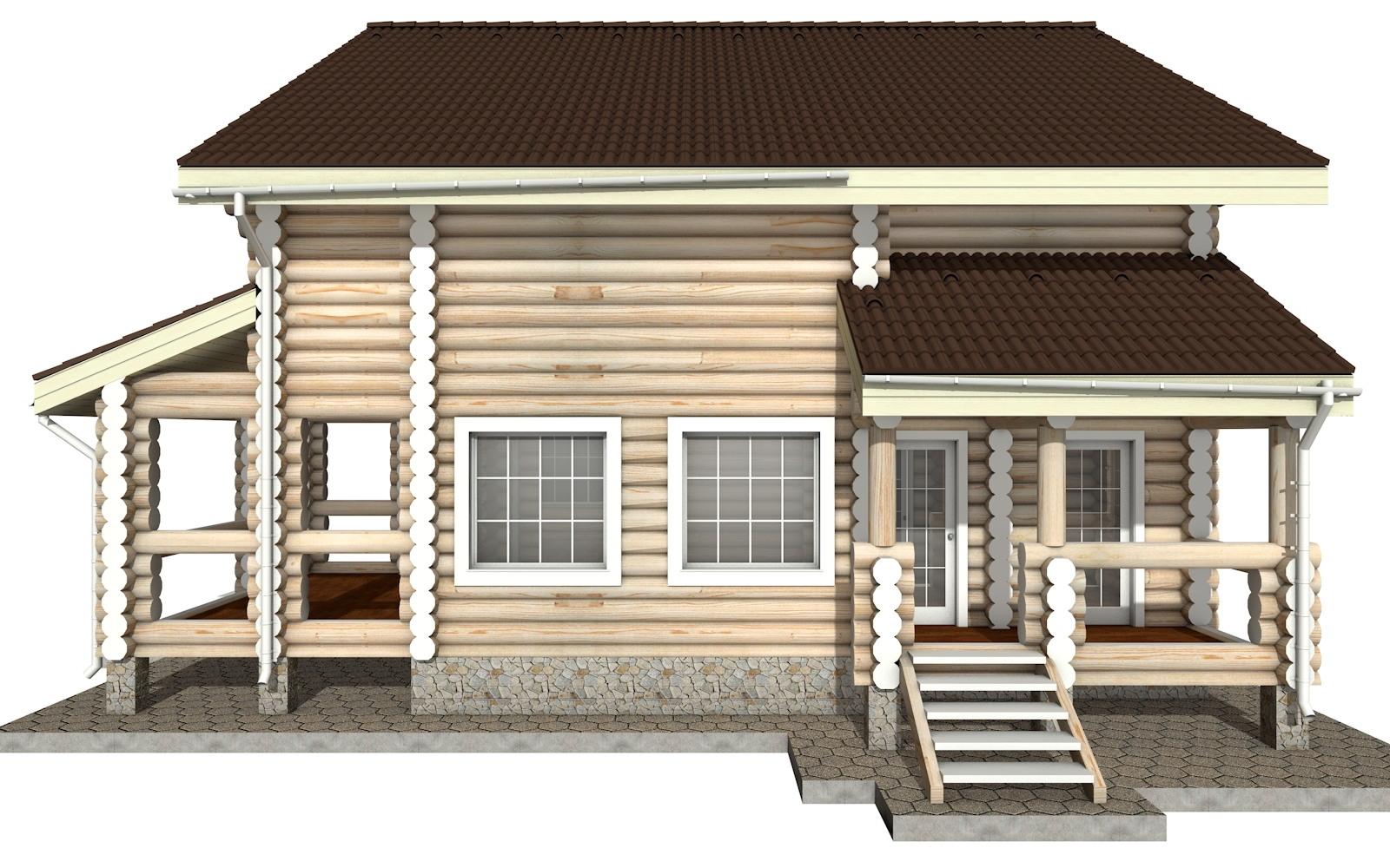 Фото #7: Красивый деревянный дом РС-9 из бревна