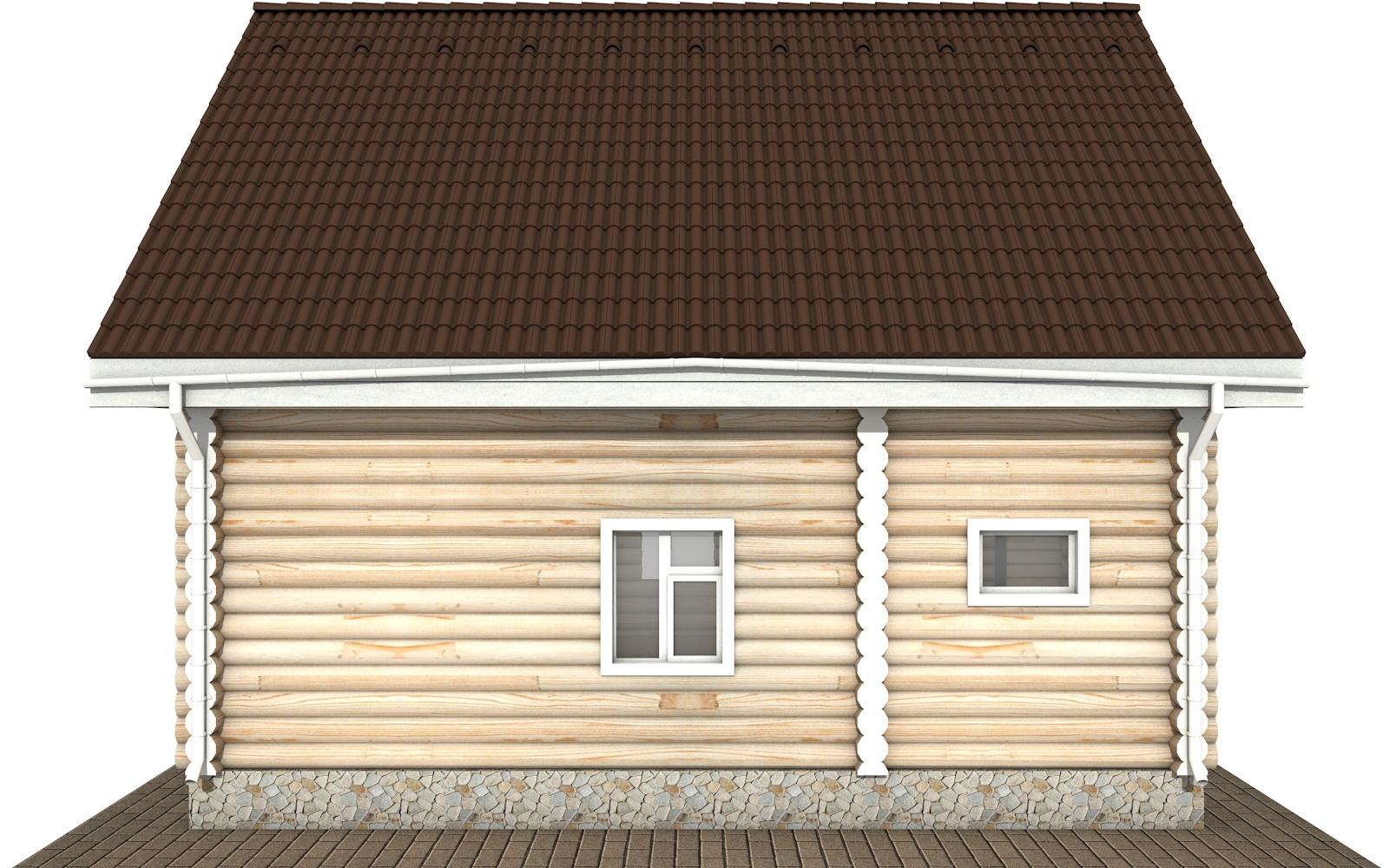 Фото #6: Красивый деревянный дом РС-123 из бревна